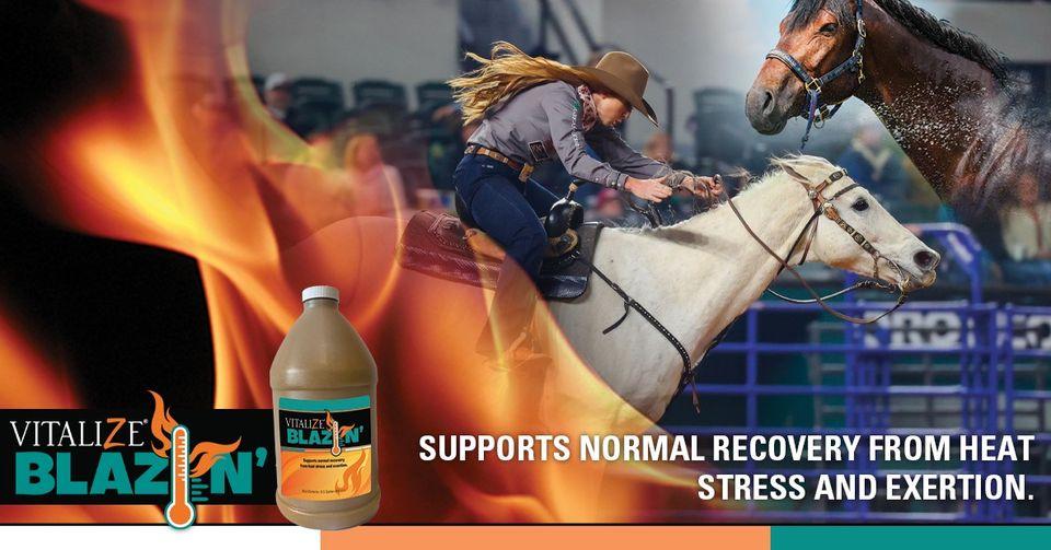 vitalize blazin barrel racers team ropers horse performance